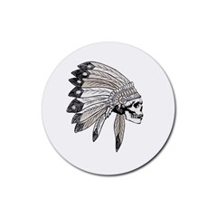 Indian Chef  Rubber Coaster (round)