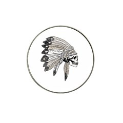 Indian Chef  Hat Clip Ball Marker (4 Pack)