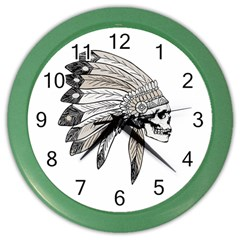 Indian Chef  Color Wall Clocks