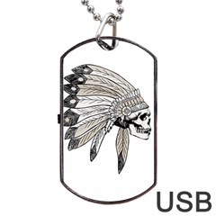 Indian Chef  Dog Tag Usb Flash (two Sides)