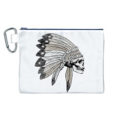 Indian Chef  Canvas Cosmetic Bag (l)