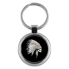 Indian Chef  Key Chains (round)