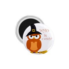 Halloween Orange Witch Owl 1 75  Magnets