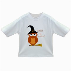Halloween Orange Witch Owl Infant/toddler T Shirts