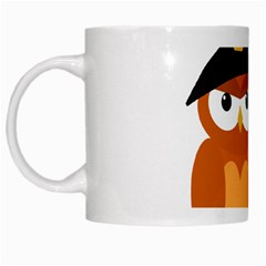 Halloween Orange Witch Owl White Mugs