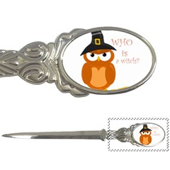 Halloween Orange Witch Owl Letter Openers
