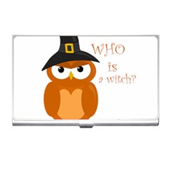 Halloween Orange Witch Owl Business Card Holders