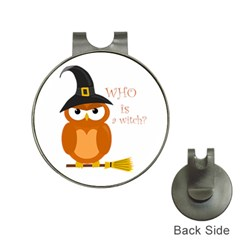 Halloween Orange Witch Owl Hat Clips With Golf Markers