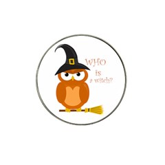 Halloween Orange Witch Owl Hat Clip Ball Marker (4 Pack)