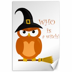 Halloween Orange Witch Owl Canvas 20  X 30