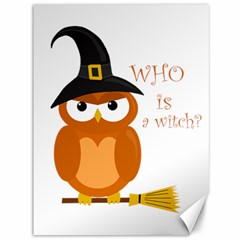 Halloween Orange Witch Owl Canvas 36  X 48
