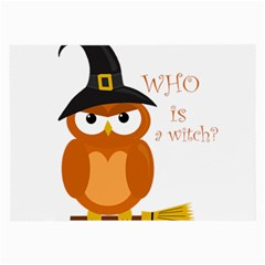 Halloween Orange Witch Owl Large Glasses Cloth