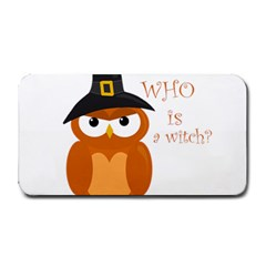 Halloween Orange Witch Owl Medium Bar Mats