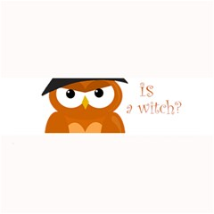 Halloween Orange Witch Owl Large Bar Mats