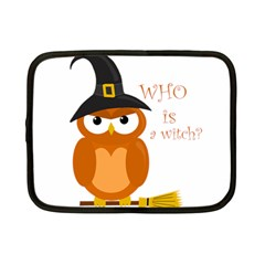 Halloween Orange Witch Owl Netbook Case (small)