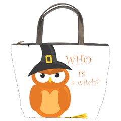 Halloween Orange Witch Owl Bucket Bags