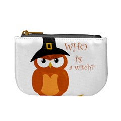 Halloween Orange Witch Owl Mini Coin Purses