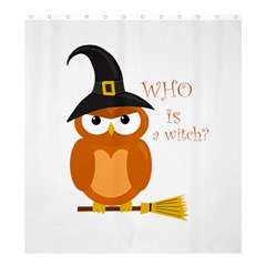 Halloween Orange Witch Owl Shower Curtain 66  X 72  (large)