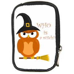 Halloween Orange Witch Owl Compact Camera Cases