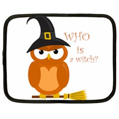 Halloween Orange Witch Owl Netbook Case (xxl)