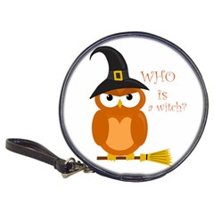 Halloween Orange Witch Owl Classic 20 Cd Wallets