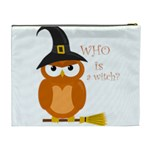 Halloween orange witch owl Cosmetic Bag (XL) Back