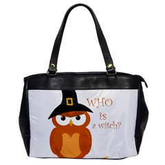 Halloween Orange Witch Owl Office Handbags