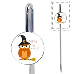 Halloween Orange Witch Owl Book Mark