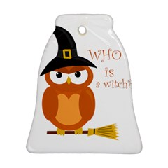 Halloween Orange Witch Owl Ornament (bell)