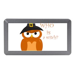 Halloween Orange Witch Owl Memory Card Reader (mini)