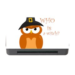 Halloween Orange Witch Owl Memory Card Reader With Cf