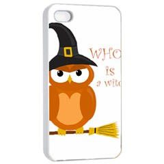 Halloween Orange Witch Owl Apple Iphone 4/4s Seamless Case (white)