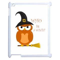 Halloween Orange Witch Owl Apple Ipad 2 Case (white)