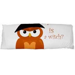 Halloween Orange Witch Owl Body Pillow Case (dakimakura)