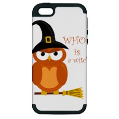 Halloween Orange Witch Owl Apple Iphone 5 Hardshell Case (pc+silicone)