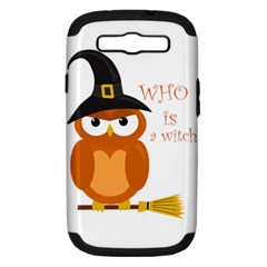 Halloween Orange Witch Owl Samsung Galaxy S Iii Hardshell Case (pc+silicone)