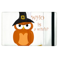 Halloween Orange Witch Owl Apple Ipad 3/4 Flip Case