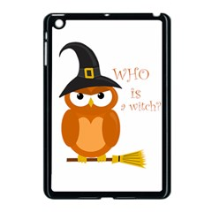 Halloween Orange Witch Owl Apple Ipad Mini Case (black)