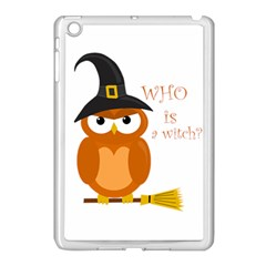 Halloween Orange Witch Owl Apple Ipad Mini Case (white)