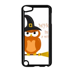 Halloween Orange Witch Owl Apple Ipod Touch 5 Case (black)