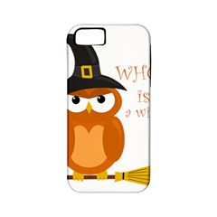 Halloween Orange Witch Owl Apple Iphone 5 Classic Hardshell Case (pc+silicone)