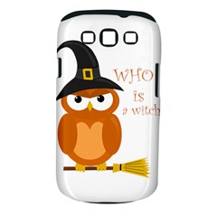 Halloween Orange Witch Owl Samsung Galaxy S Iii Classic Hardshell Case (pc+silicone)
