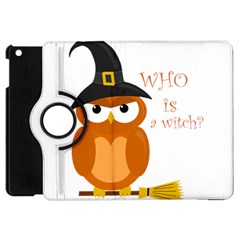 Halloween Orange Witch Owl Apple Ipad Mini Flip 360 Case