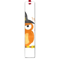 Halloween Orange Witch Owl Large Book Marks