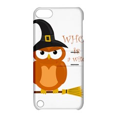 Halloween Orange Witch Owl Apple Ipod Touch 5 Hardshell Case With Stand