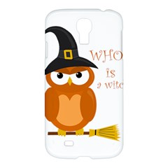 Halloween Orange Witch Owl Samsung Galaxy S4 I9500/i9505 Hardshell Case