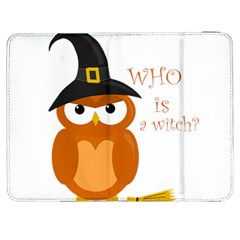 Halloween Orange Witch Owl Samsung Galaxy Tab 7  P1000 Flip Case