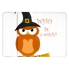 Halloween Orange Witch Owl Samsung Galaxy Tab 8 9  P7300 Flip Case