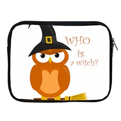 Halloween Orange Witch Owl Apple Ipad 2/3/4 Zipper Cases