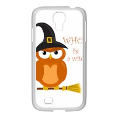 Halloween Orange Witch Owl Samsung Galaxy S4 I9500/ I9505 Case (white)